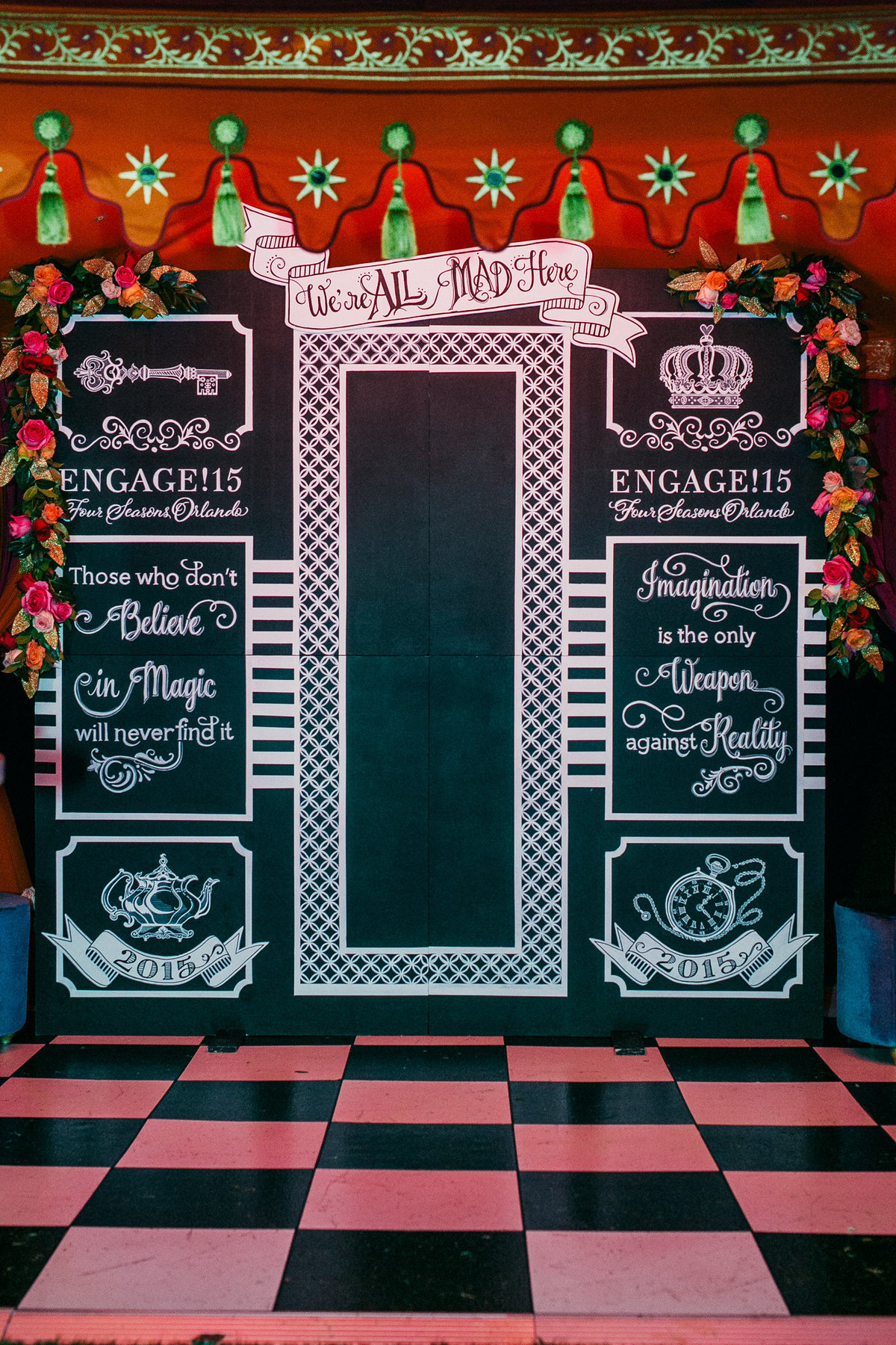 Chalk board photo booth
