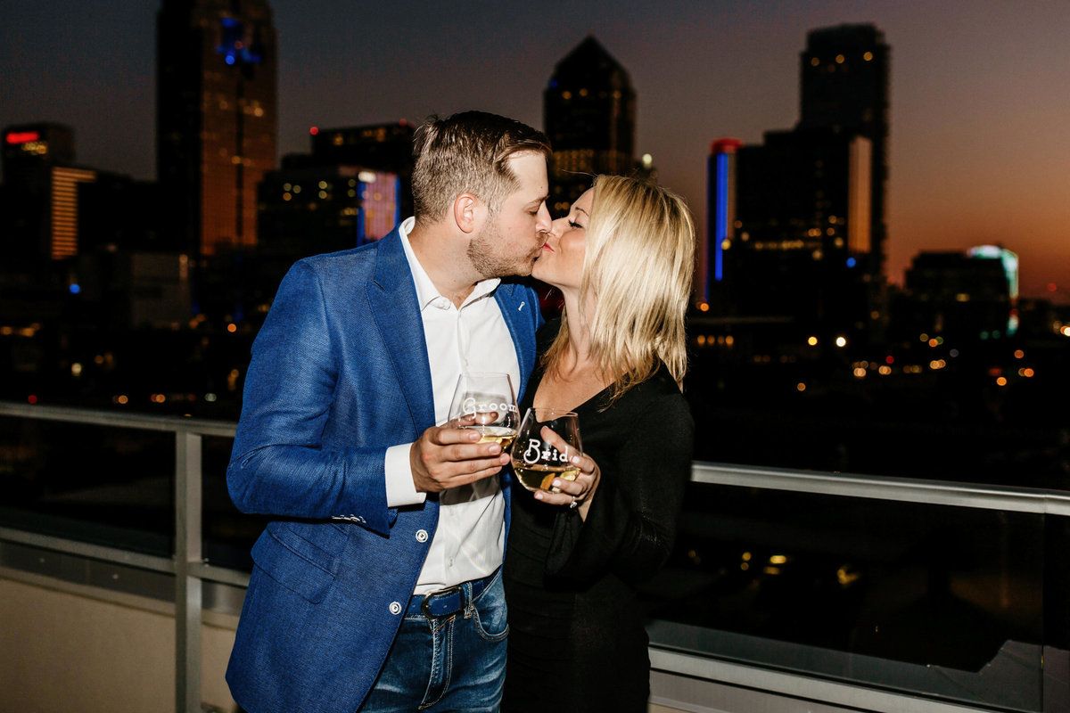 Eric & Megan - Downtown Dallas Rooftop Proposal & Engagement Session-261