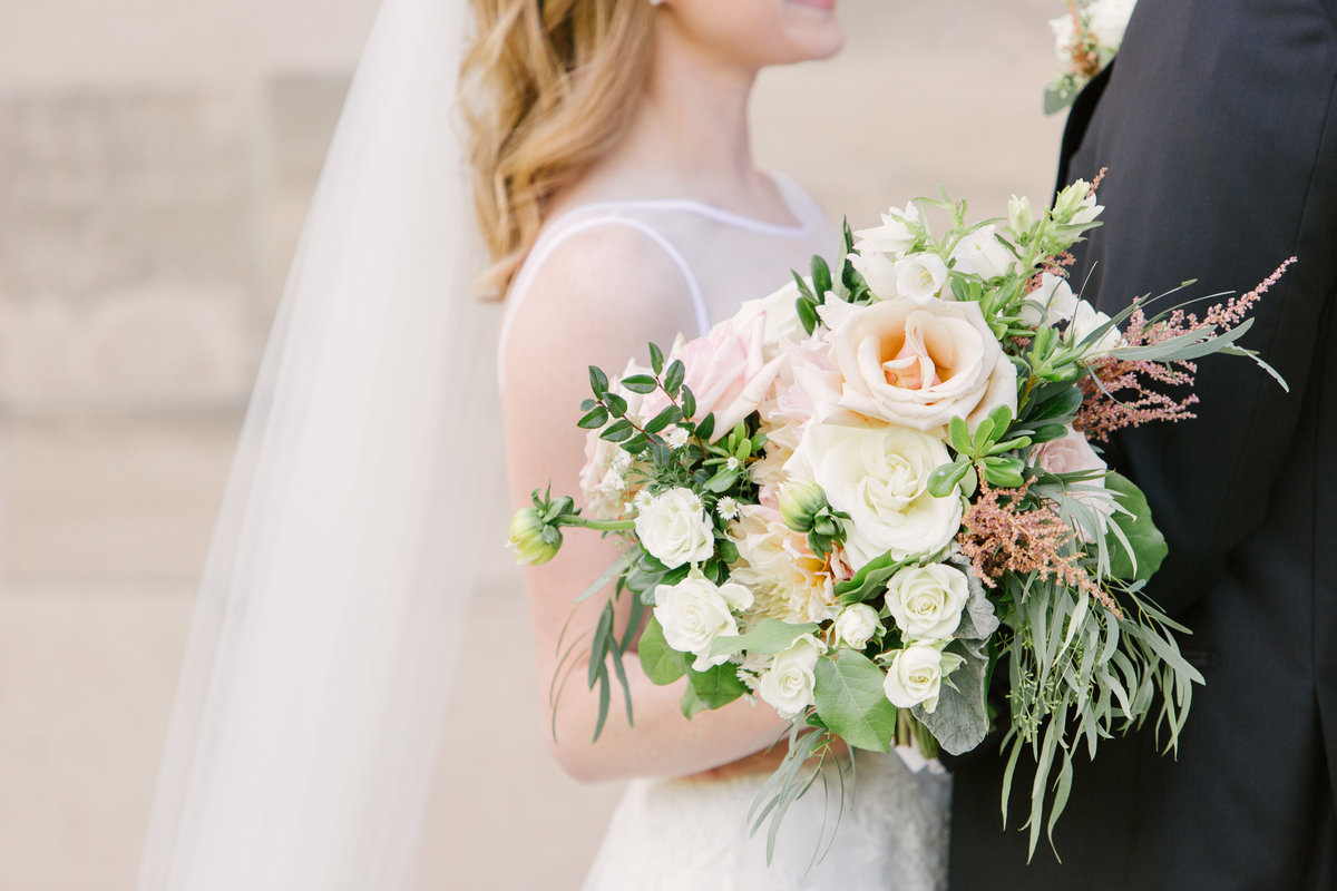 Scottish Rite Cathedral Wedding Bridal Bouquet Photo