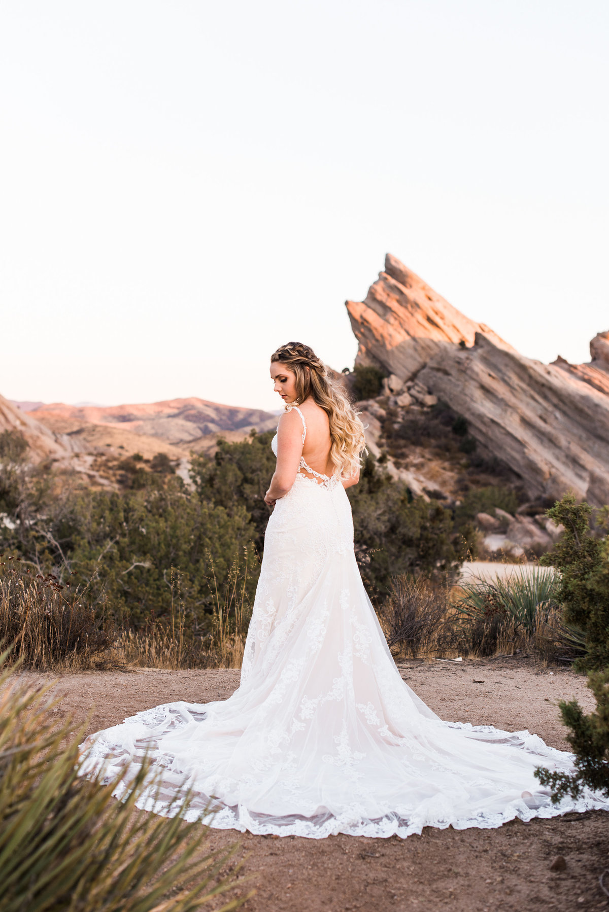 desert bridal portrait photo