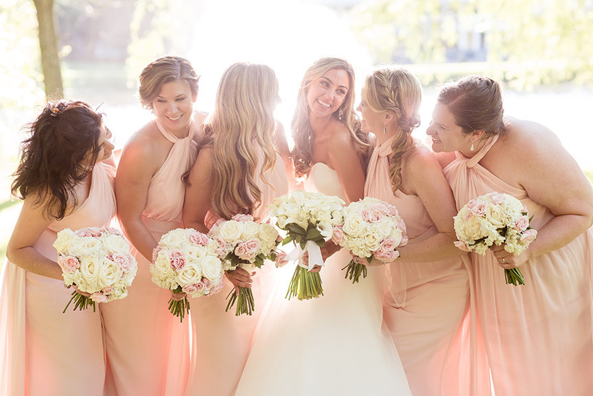 Bridesmaids - Something Blue Floral Events -  Victoria Elizabeth Official Hair Makeup - Flowerfield celebrations - Imagine Studios Photography - Wedding Photographer