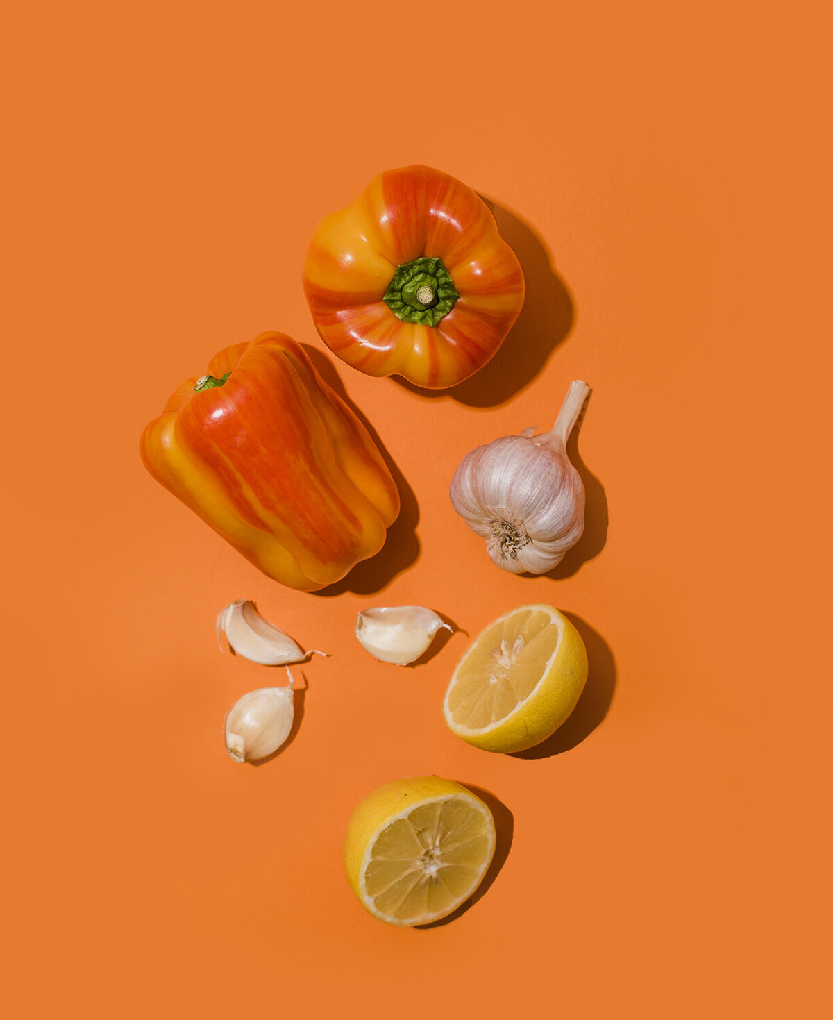 los angeles food photographer produce photography peppers and garlic