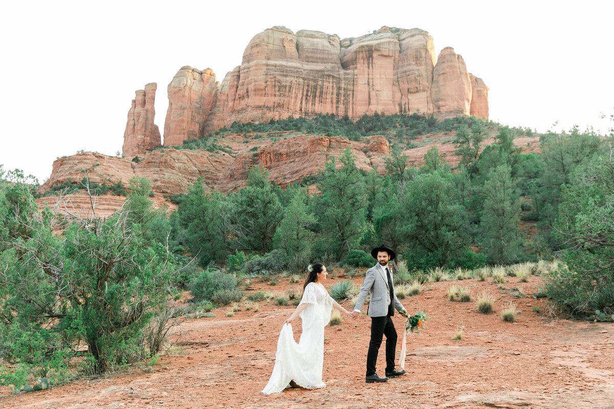 Karlie Colleen Photography - Sedona Arizona Elopement Wedding - Sara & Alfredo-200