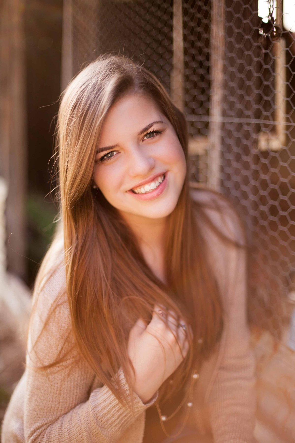 Senior picture at Luscombe Farm in Texas