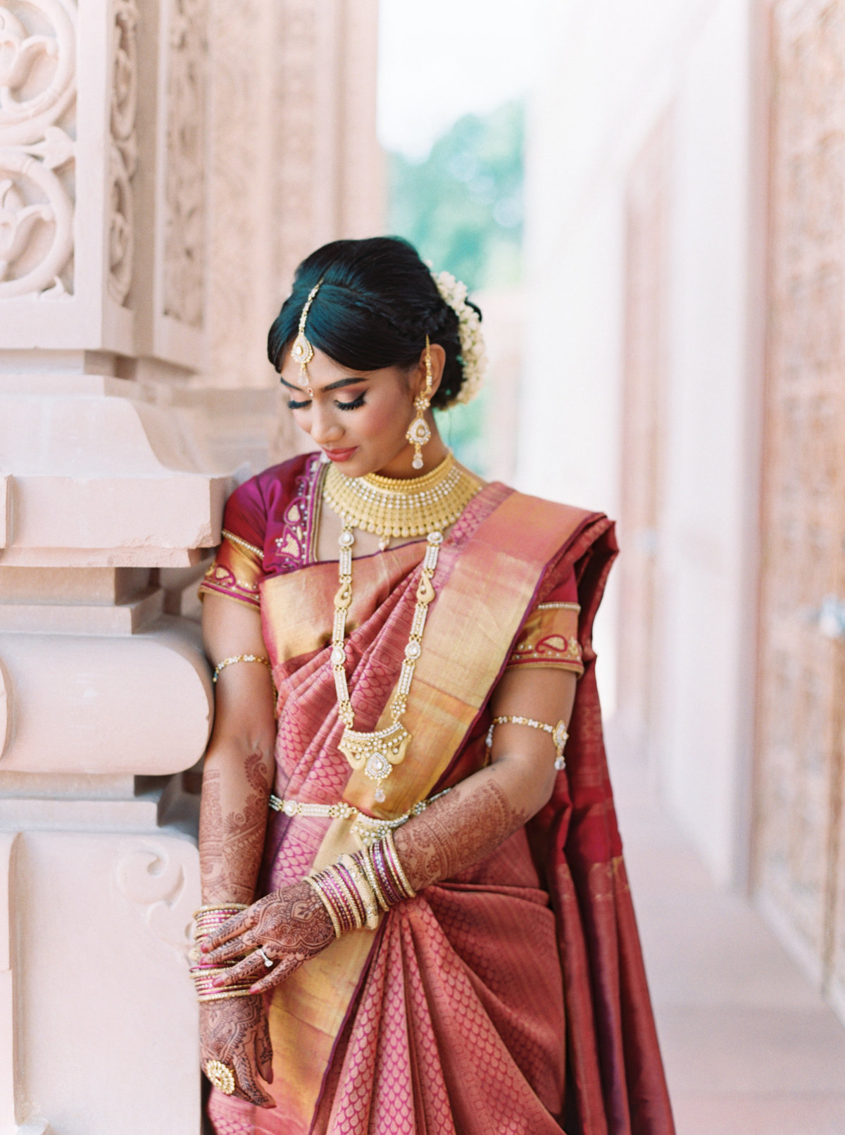 Kavya + Eric Couple Portraits BAPS Mandir Atlanta Wedding 022