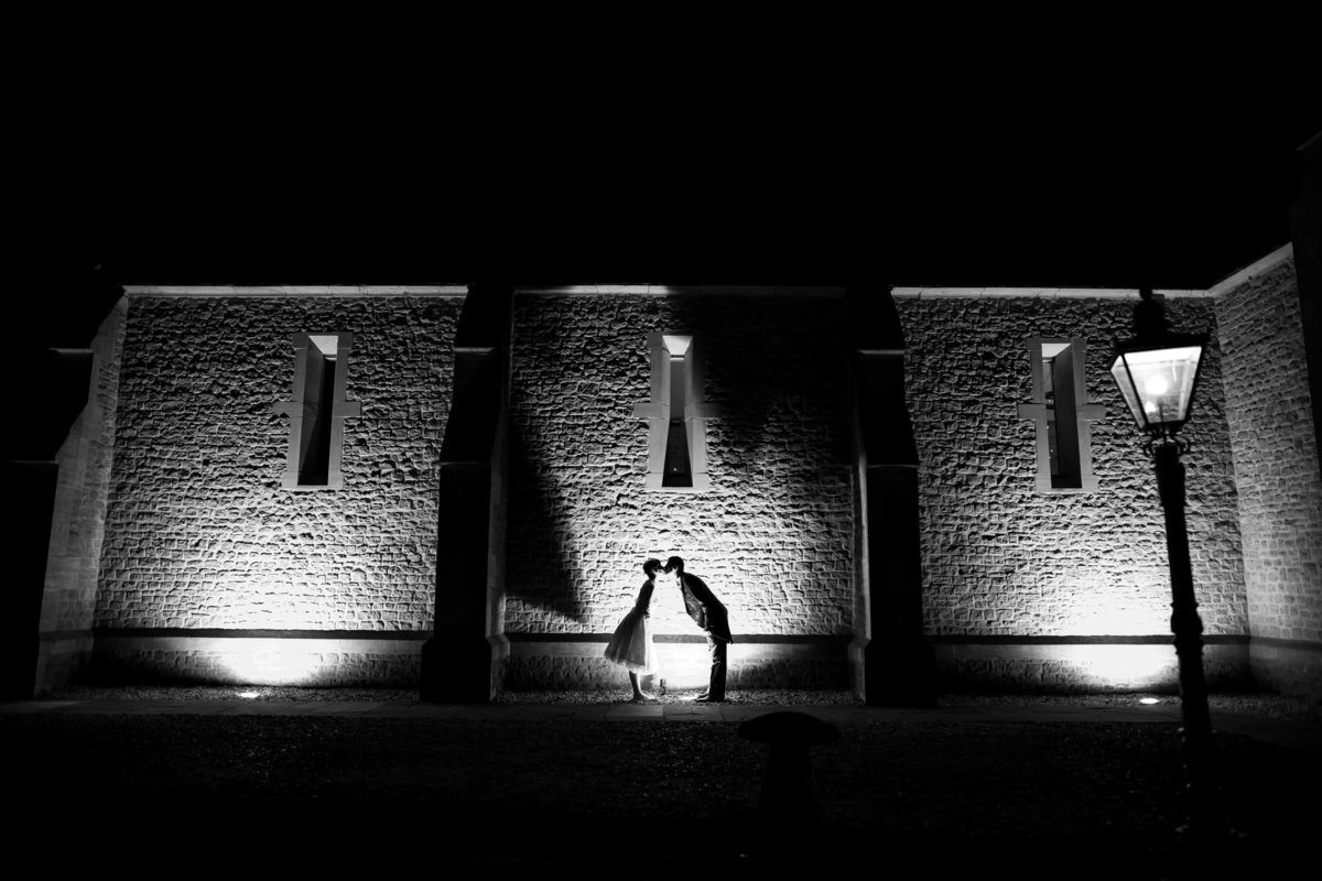 haselbury mill wedding photography at night