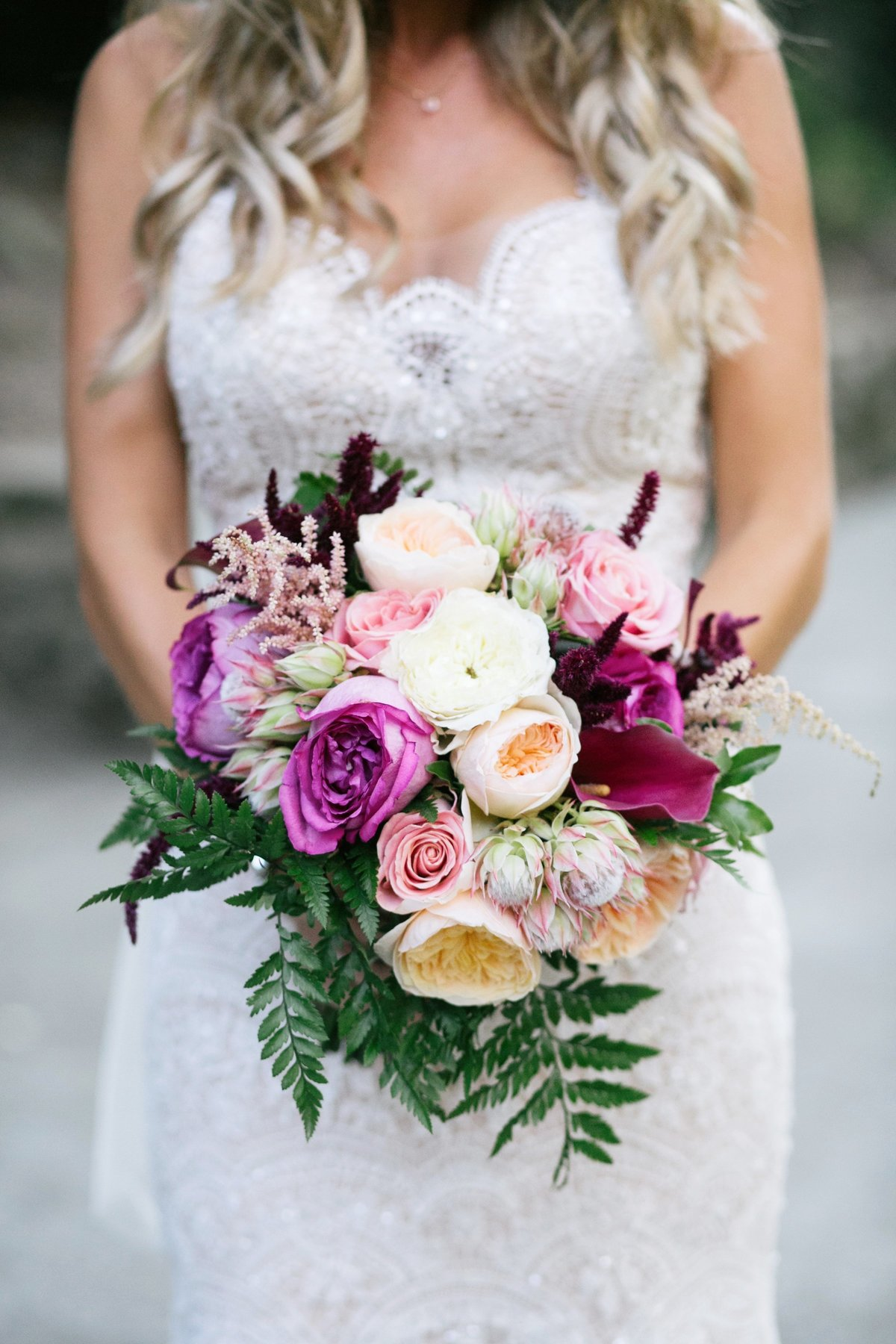 boho wedding bouquet wildflowers