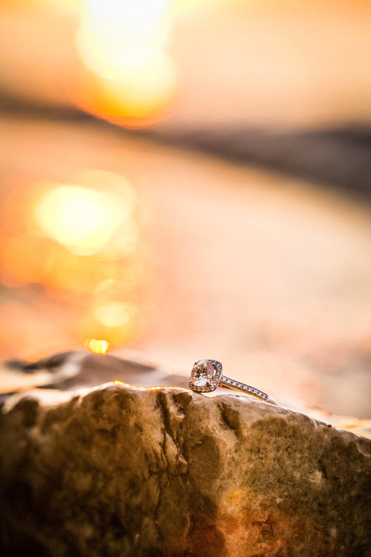 Brandon & Andrea's Wisconsin Beach Sunset Engagement Session Photos by Amenson Studio-0086