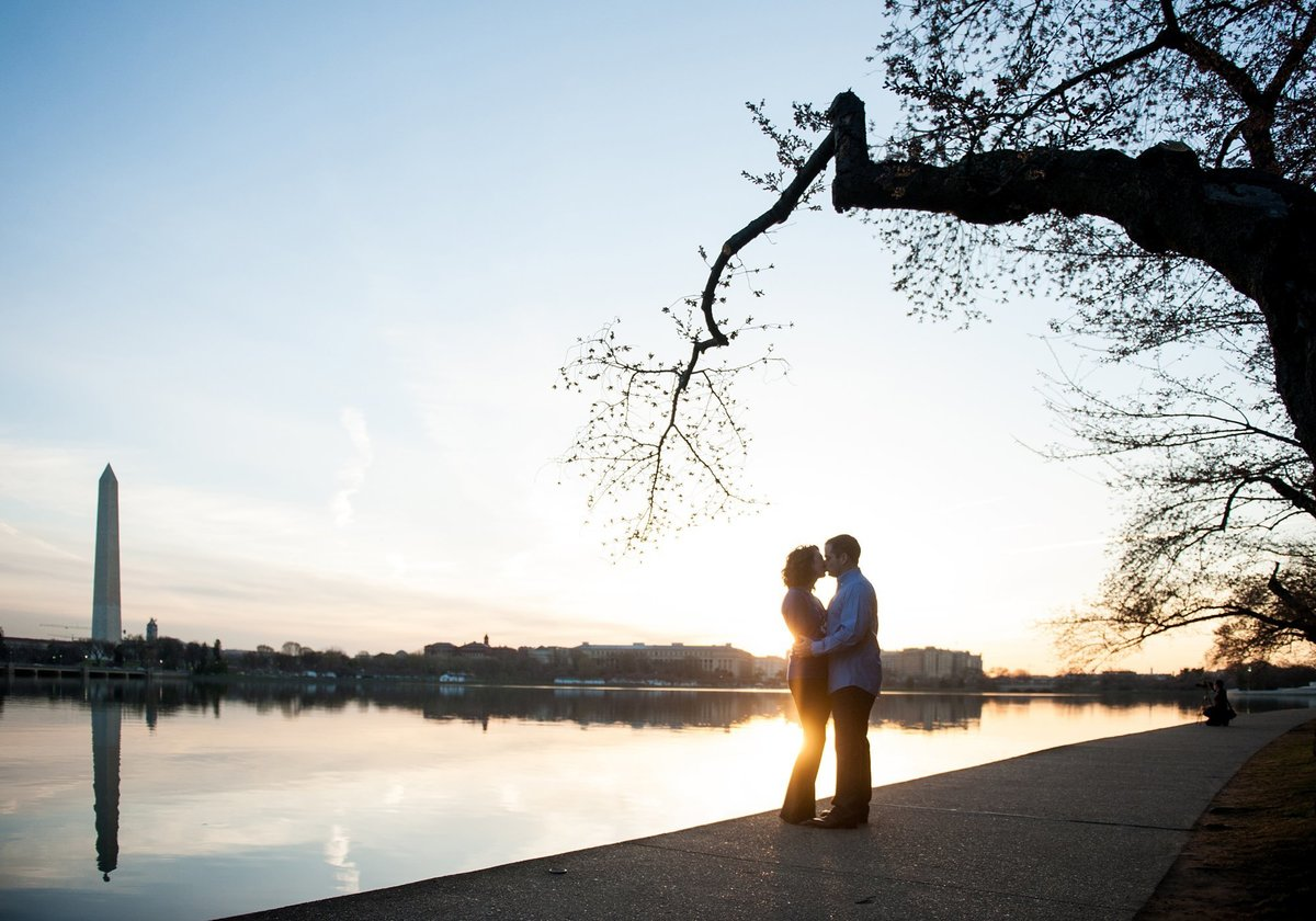 washington dc sunrise engagement session