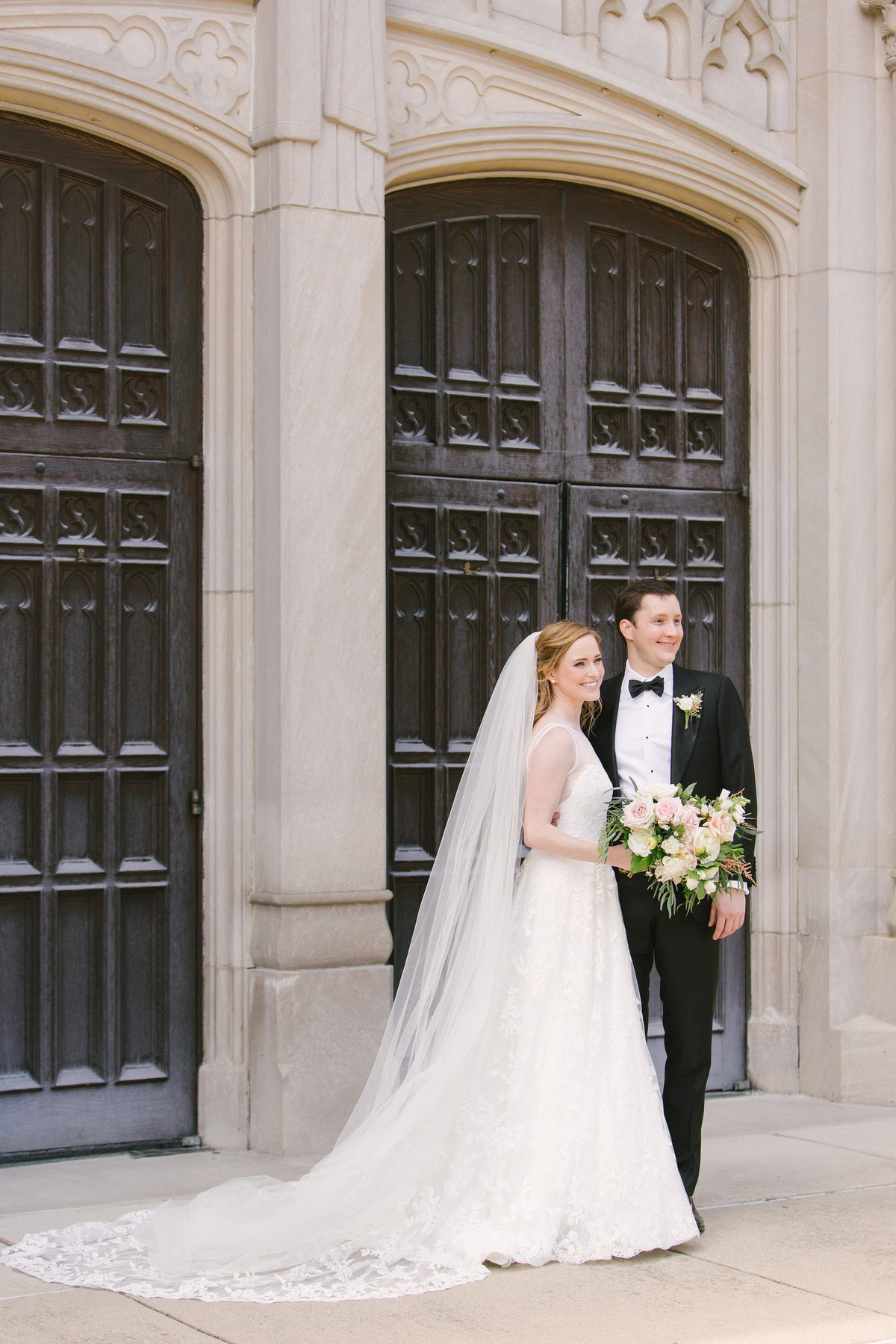 Scottish Rite Cathedral Wedding Lace Wedding Dress Photo