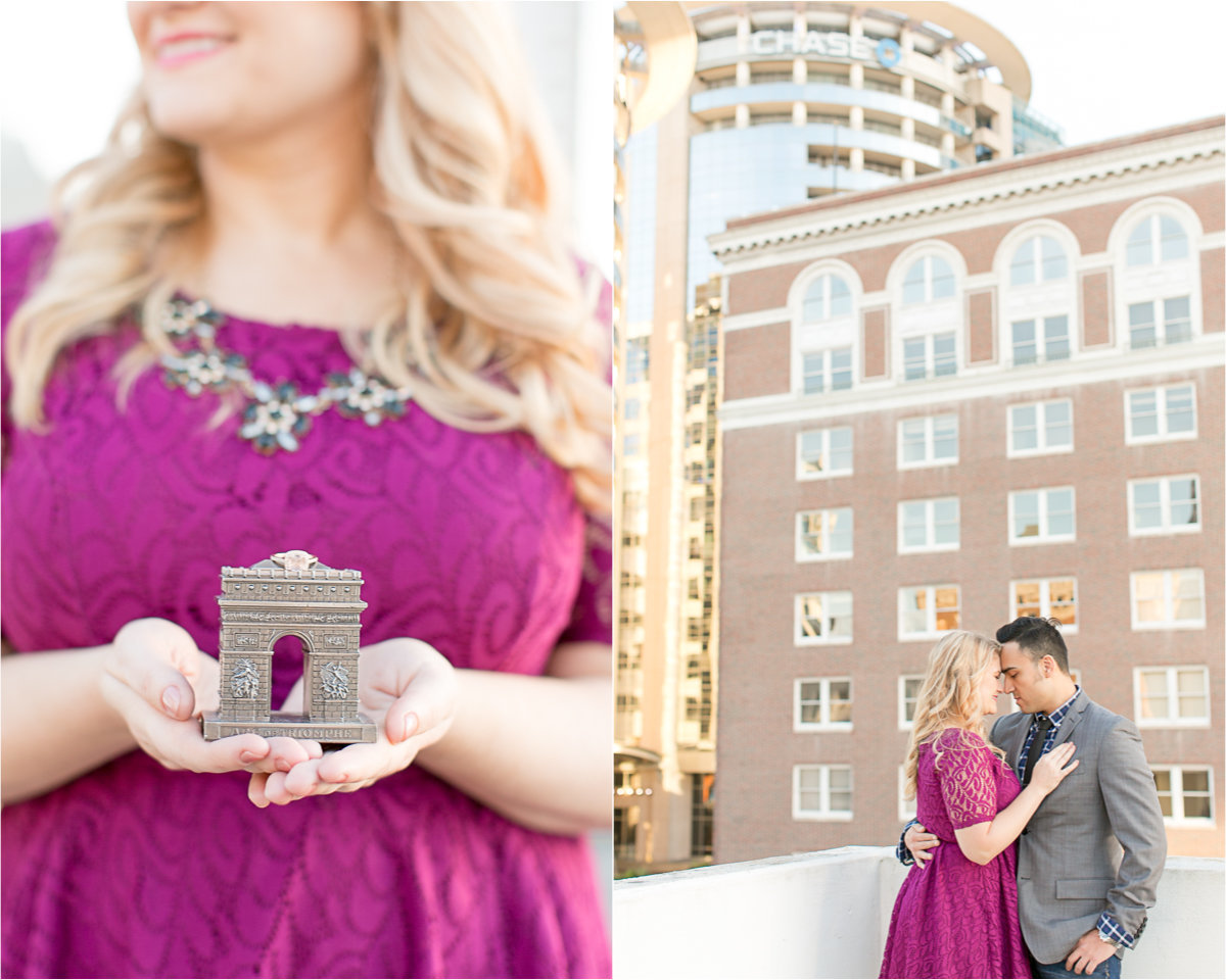 engagement session in downtown Orlando