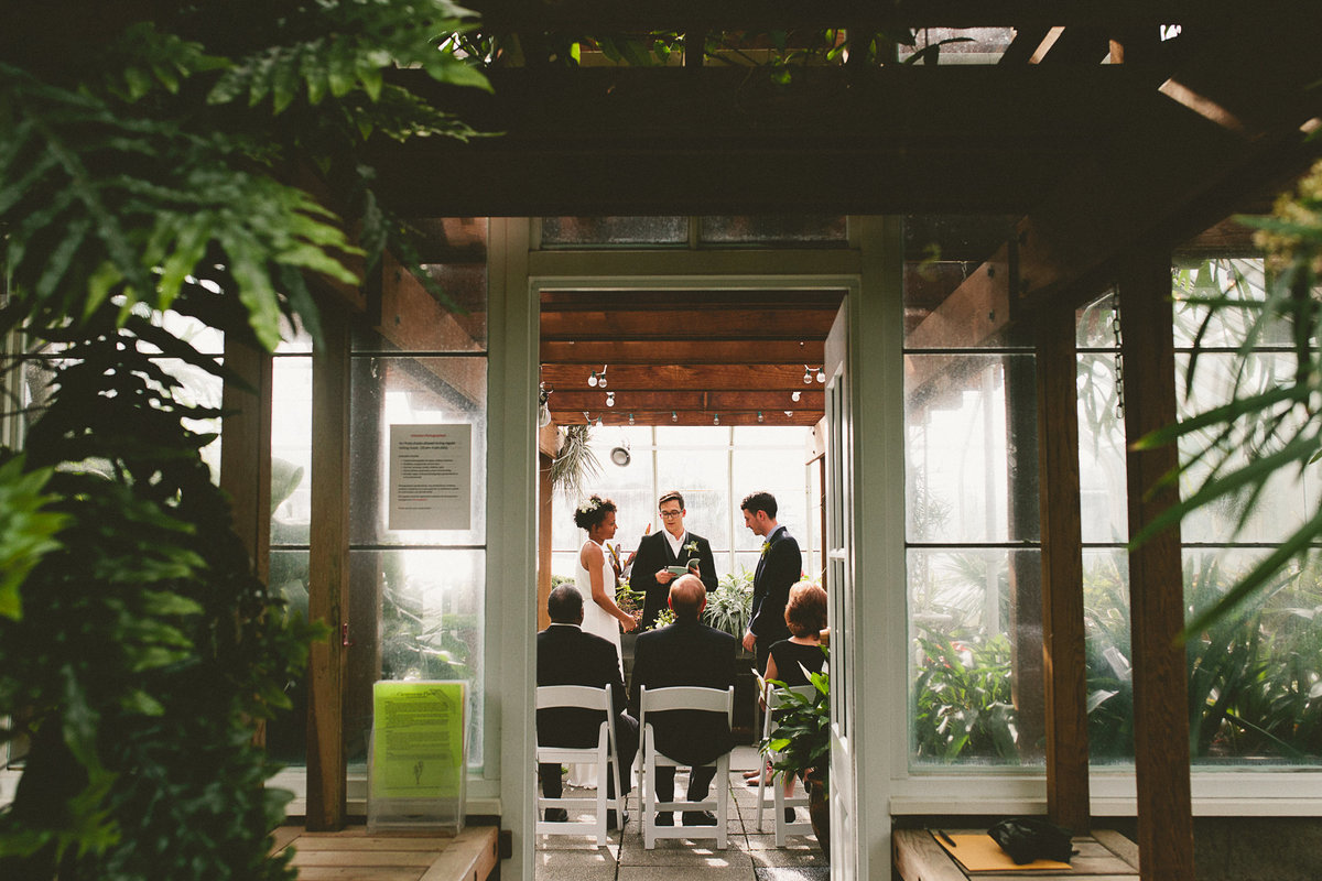 Intimate Small Wedding at Volunteer Conservatory