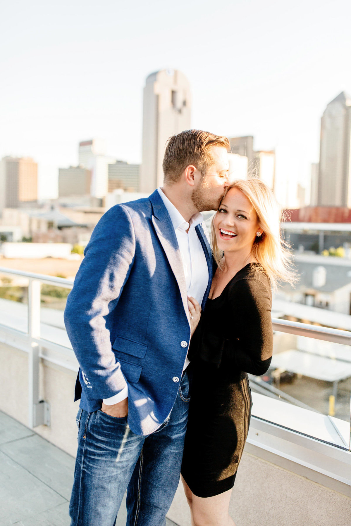 Eric & Megan - Downtown Dallas Rooftop Proposal & Engagement Session-68