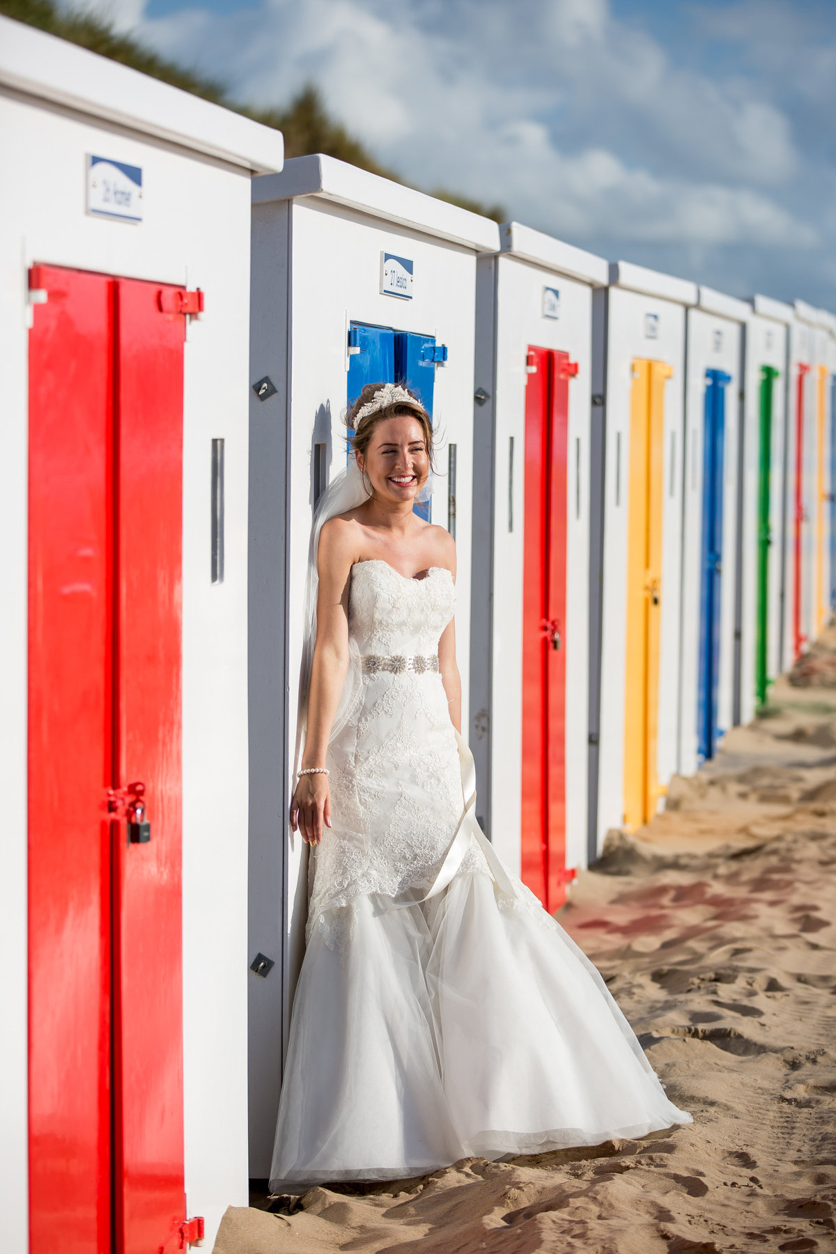 bride at saunton sands hotel north devon