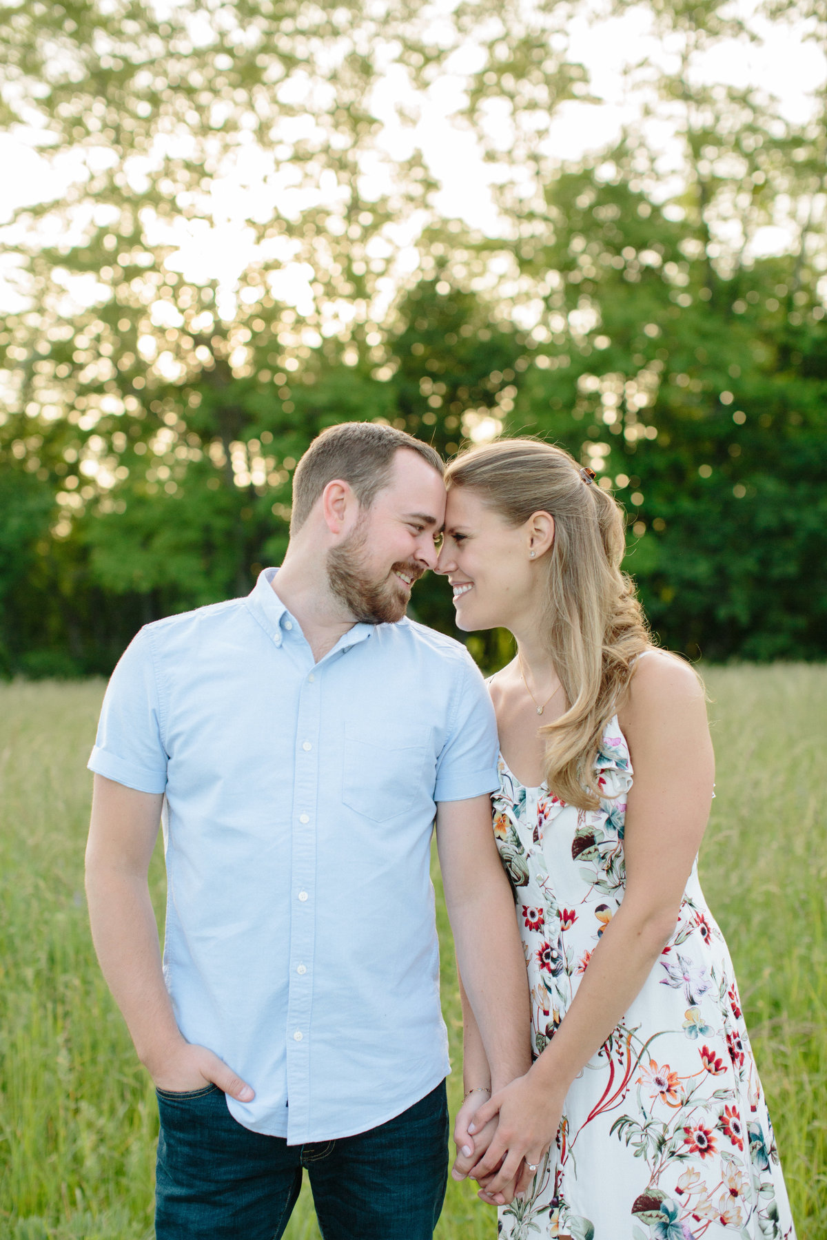 summer golden hour engagement session rockefeller state park preserve