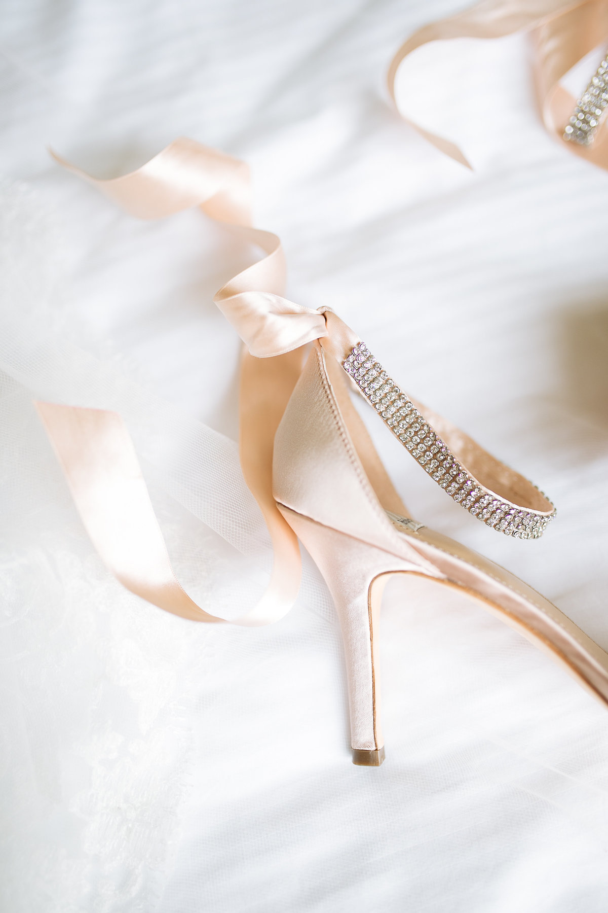 bridal shoes from bhldn worn at a houston wedding