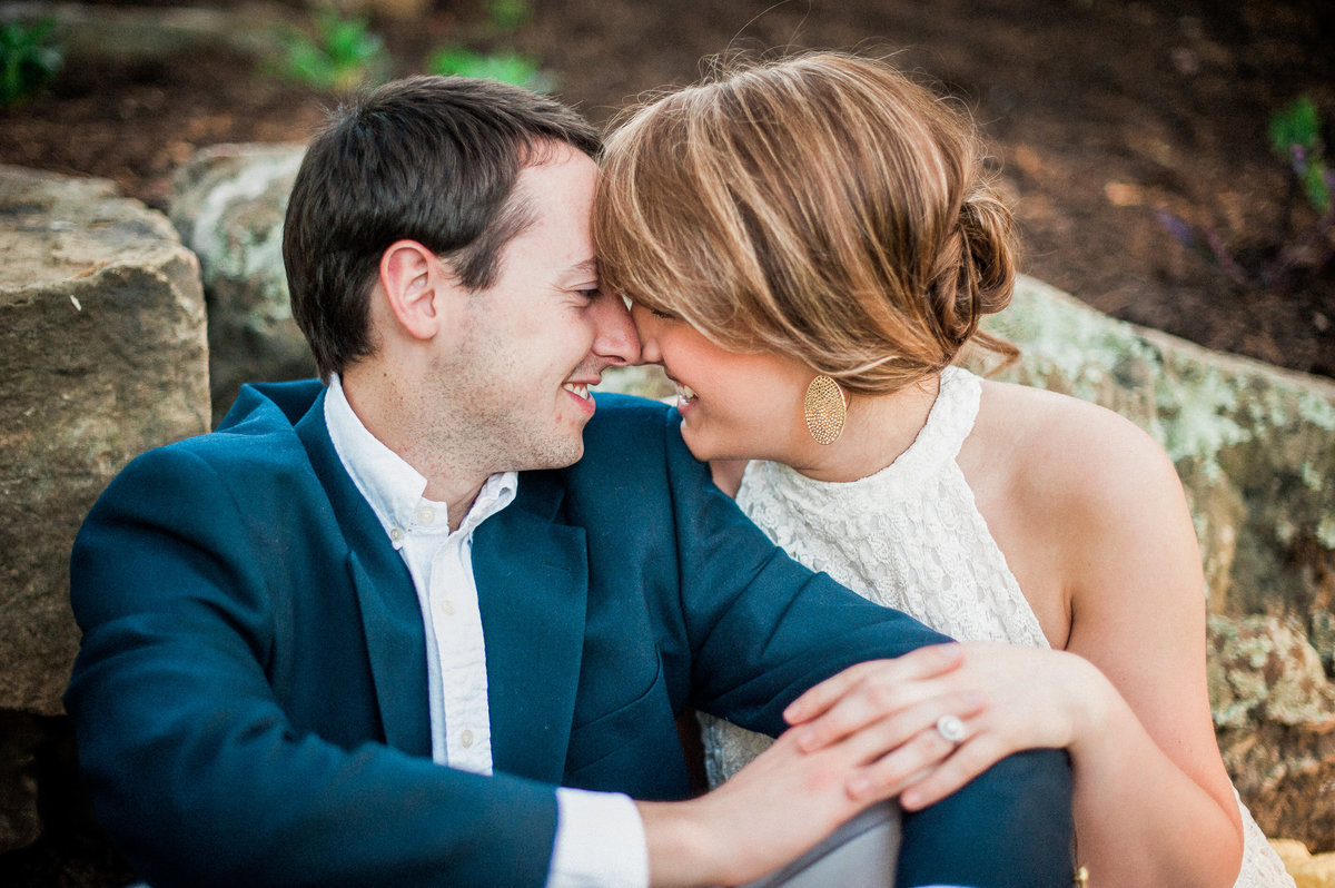 Bentonville and Fayetteville Engagement and wedding photographer, NWA wedding and engagement photographer, engaged couple in love kissing, engagement photo inspiration-8