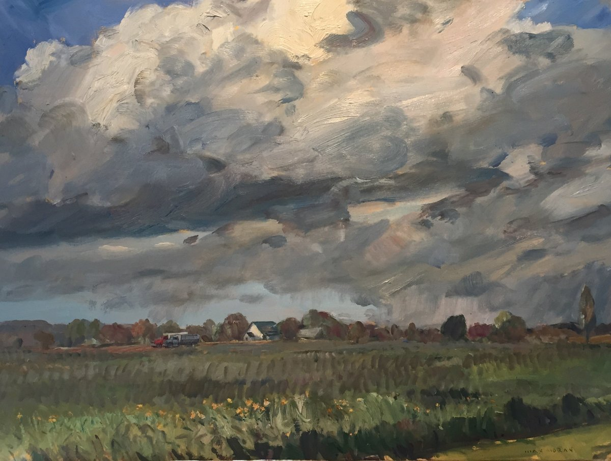 Spring Clouds Off Reeves Road 18X24 oop 4,000