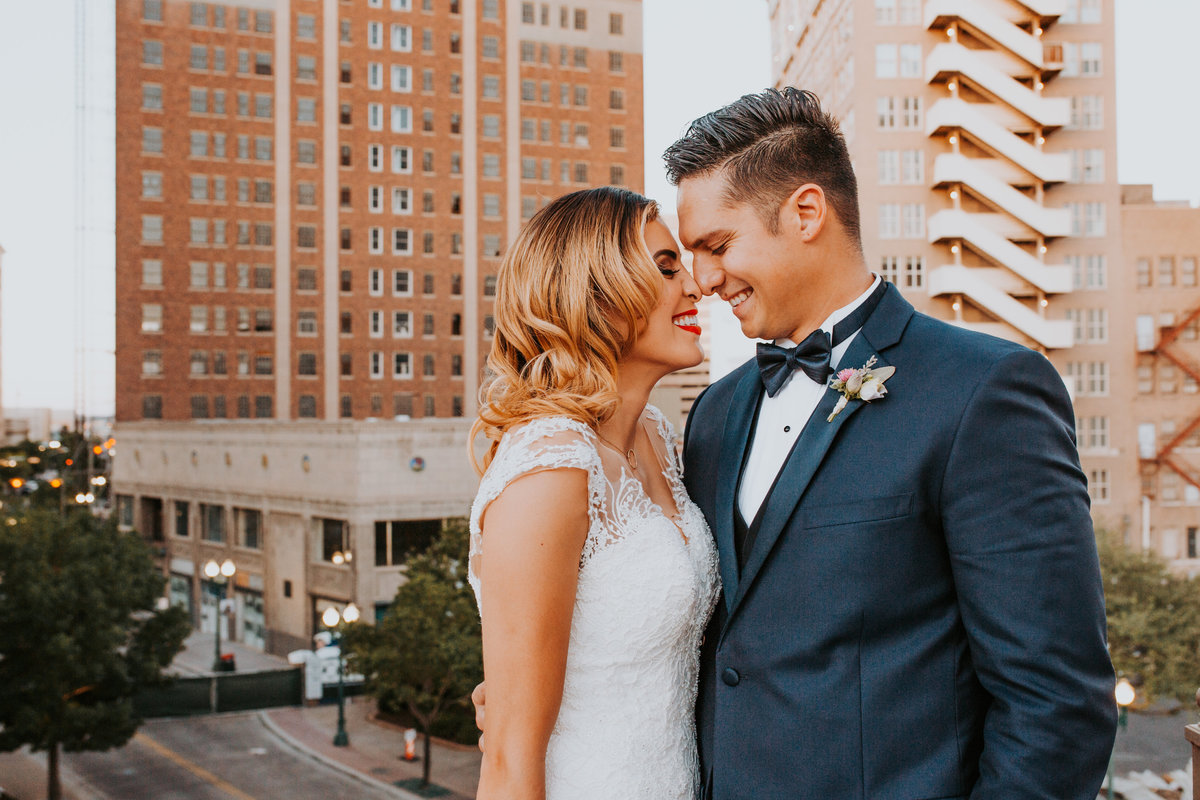 Downtown El Paso Live Rooftop Wedding Bride and Groom The Plaza Life In Tandem Photography-16