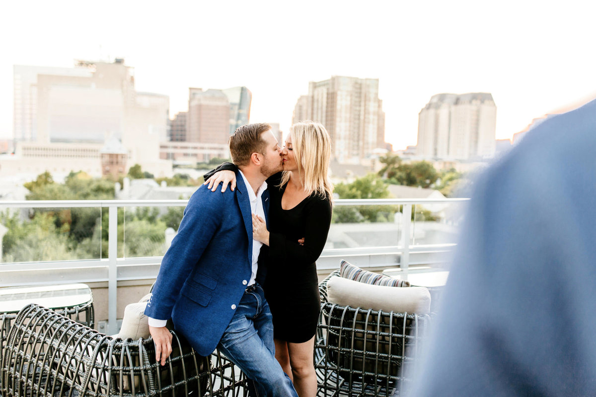Eric & Megan - Downtown Dallas Rooftop Proposal & Engagement Session-215