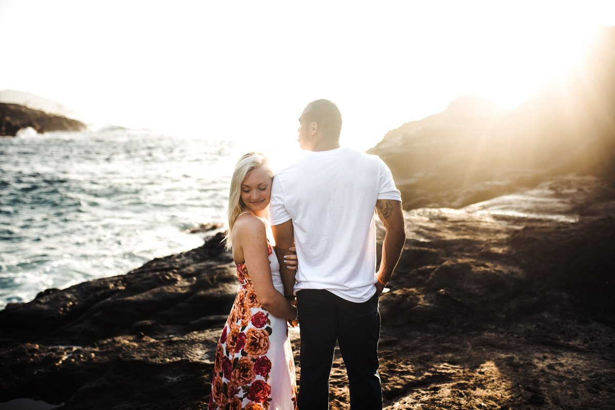 Eternity Beach Honolulu Hawaii Destination Engagement Session - 35