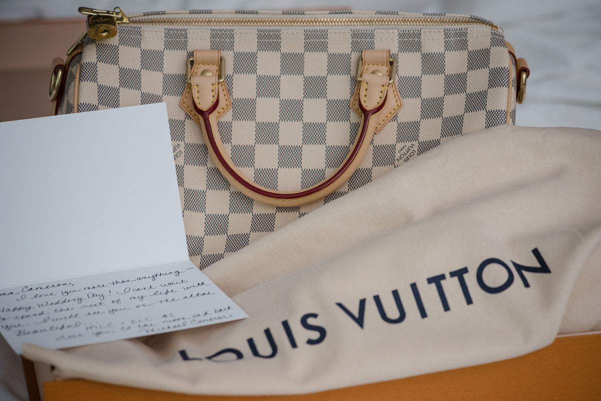 The Gideon Putnam Hotel, Saratoga Springs, NY,  Louis Vuitton bag, bride gift