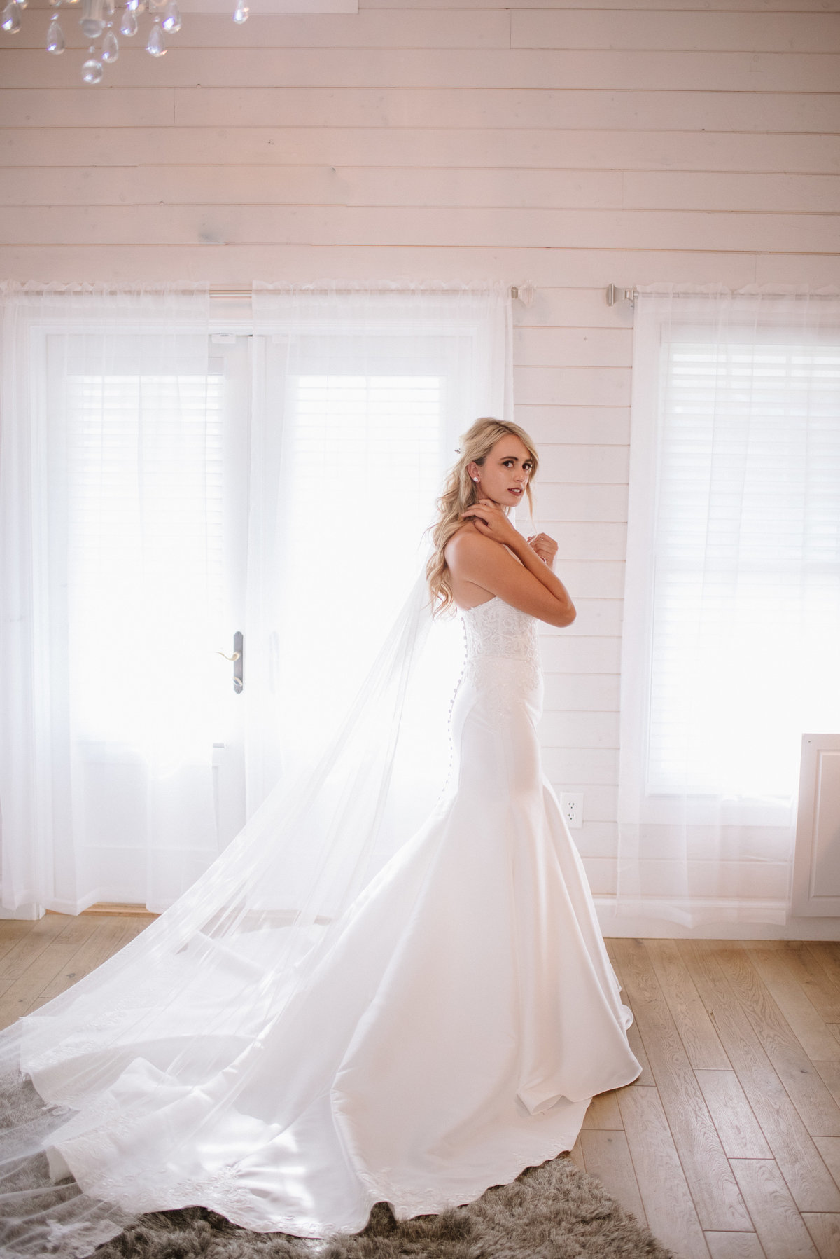 natural light bride portrait