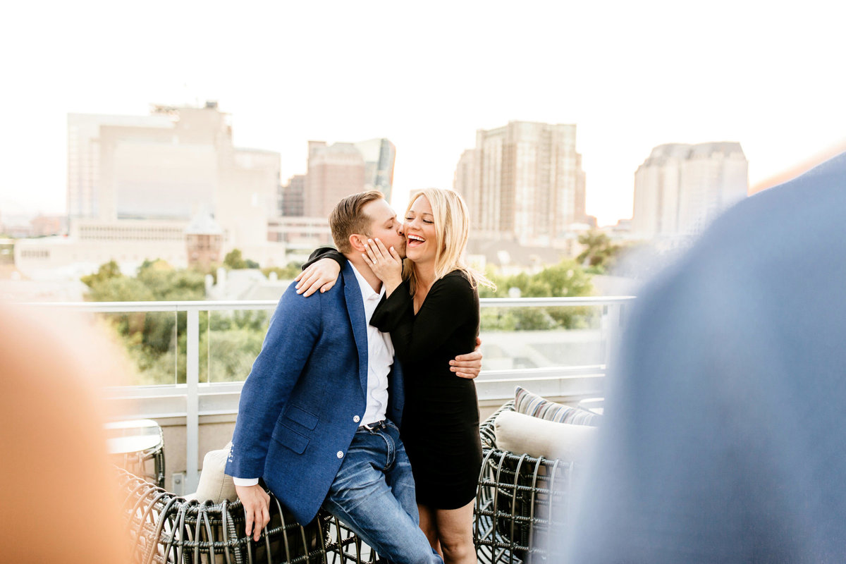 Eric & Megan - Downtown Dallas Rooftop Proposal & Engagement Session-212