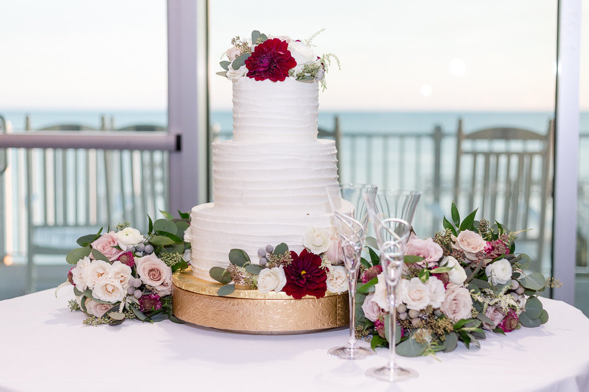 3 tiered wedding cake photographed by toni goodie photography