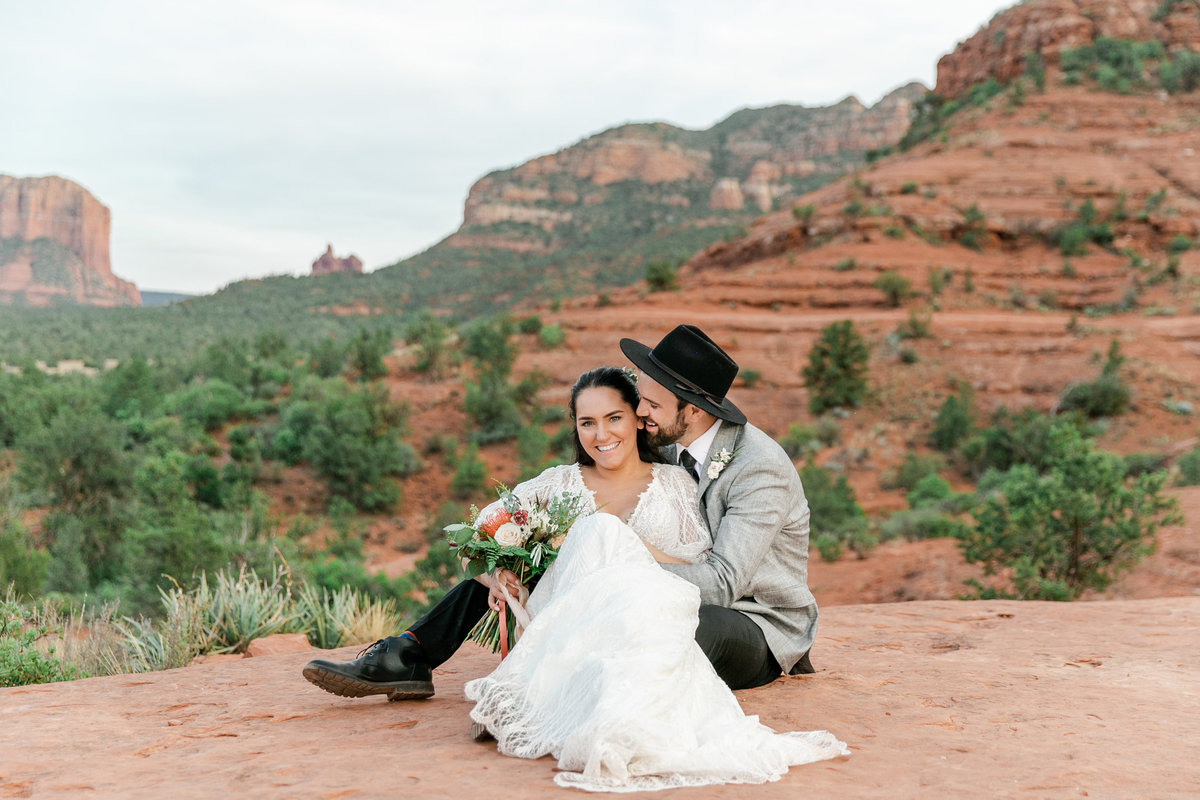 Karlie Colleen Photography - Sedona Arizona Elopement Wedding - Sara & Alfredo-316
