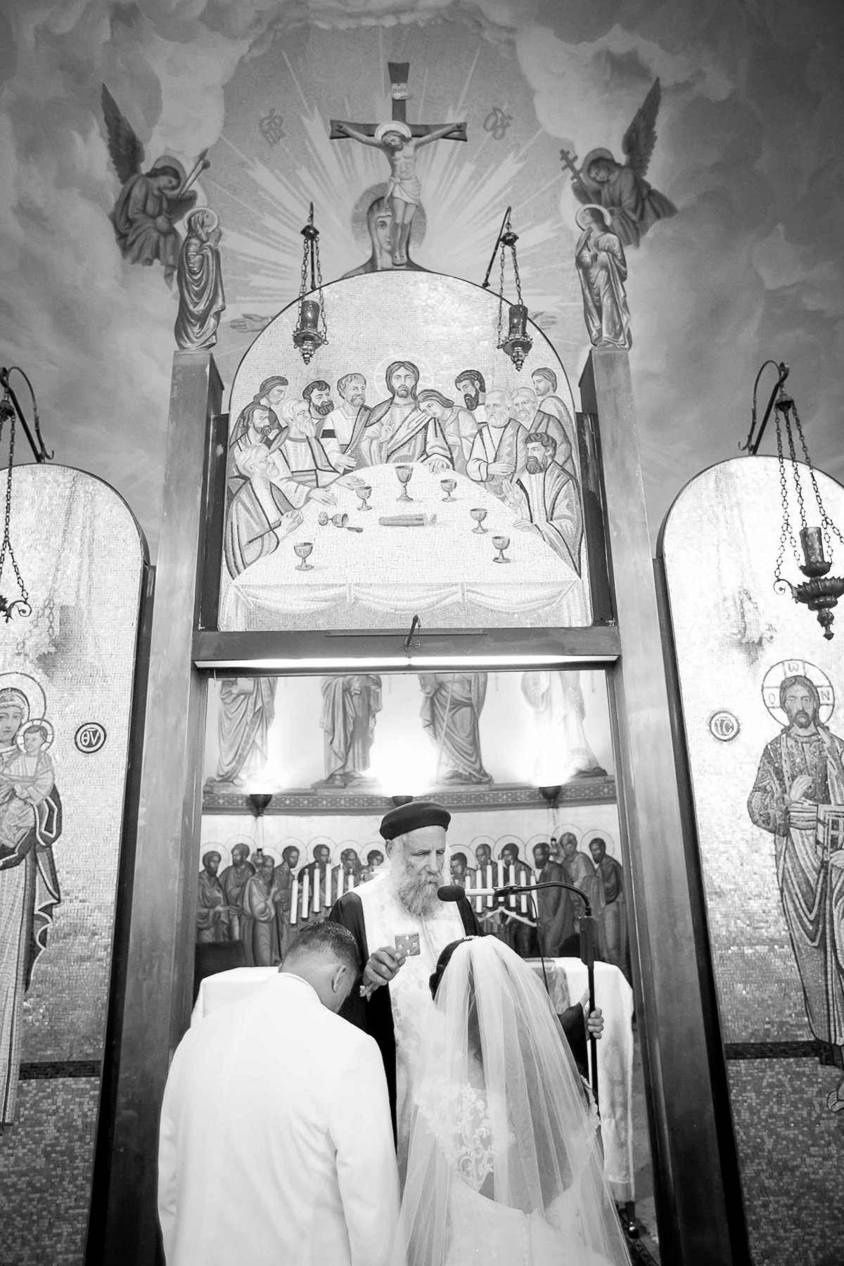 Black and White Church Ceremony