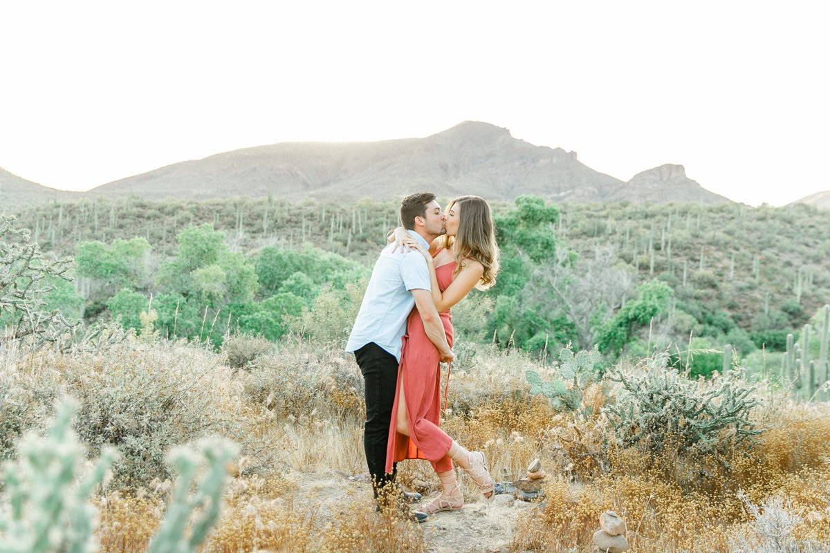 Karlie Colleen Photography - Arizona Desert Engagement - Brynne & Josh -181