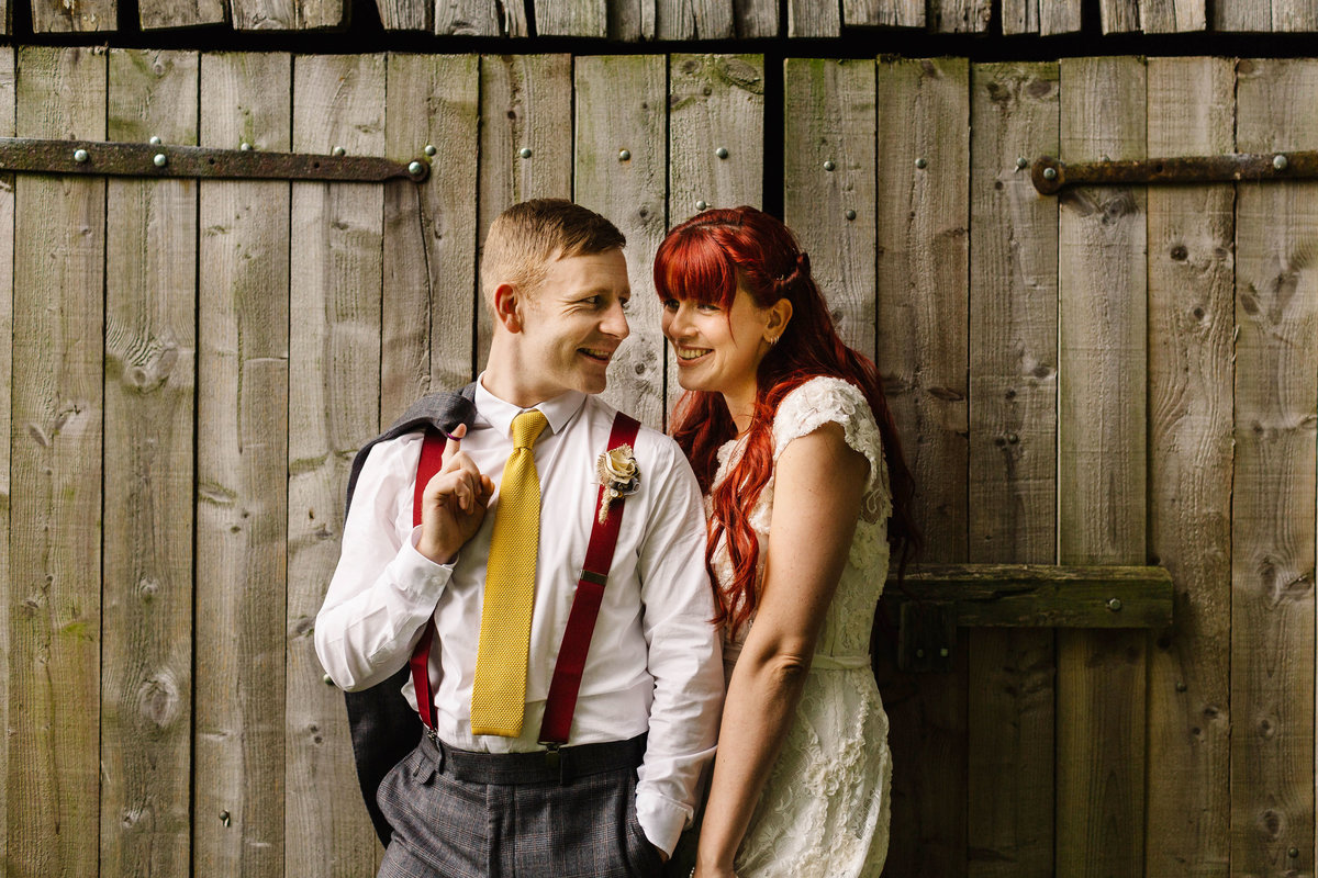 The Red Lion in Burnsall Tithe Barn Wedding Photos.  Quirky Wedding