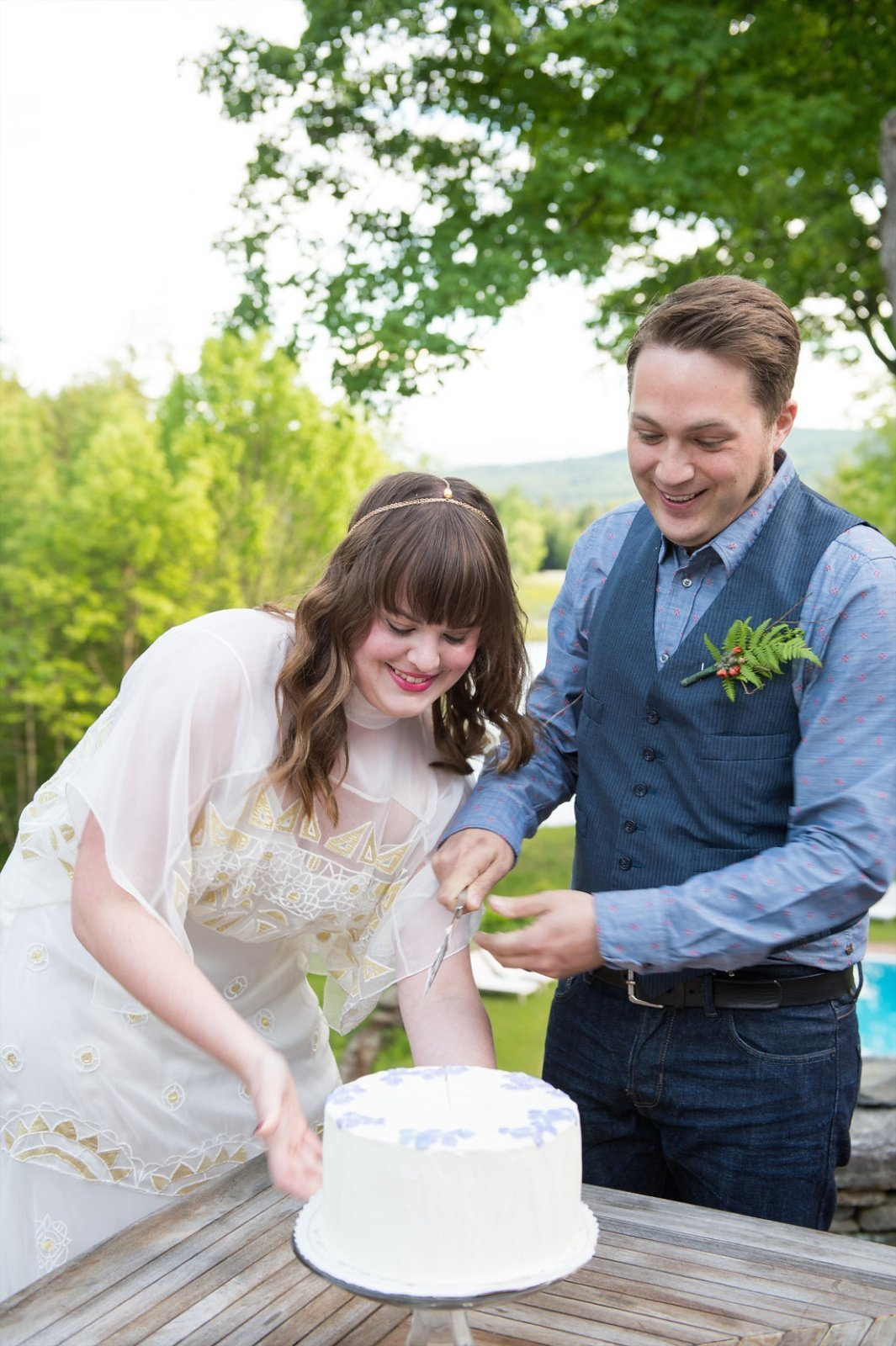Edson Hill Stowe Vermont wedding photographer
