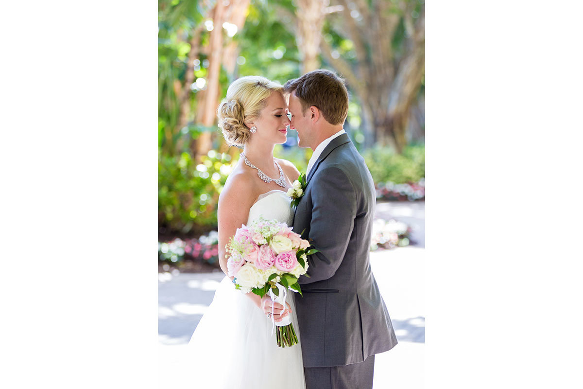 hyatt coconut point bonita springs wedding photo
