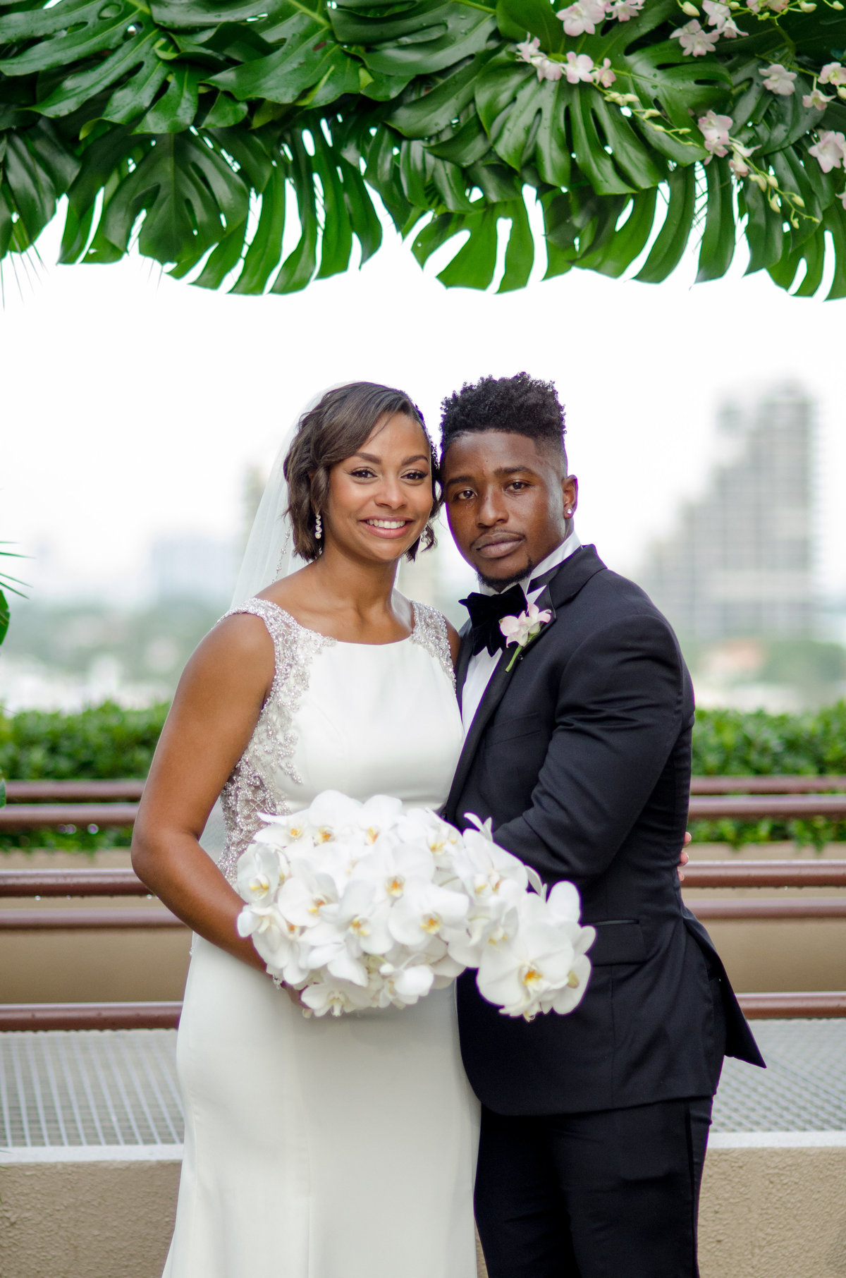 NFL Miami Dolphins Brandon Radcliff ShaKyra Radcliff Briza on the Bay Wedding Andrea Arostegui Photography-148
