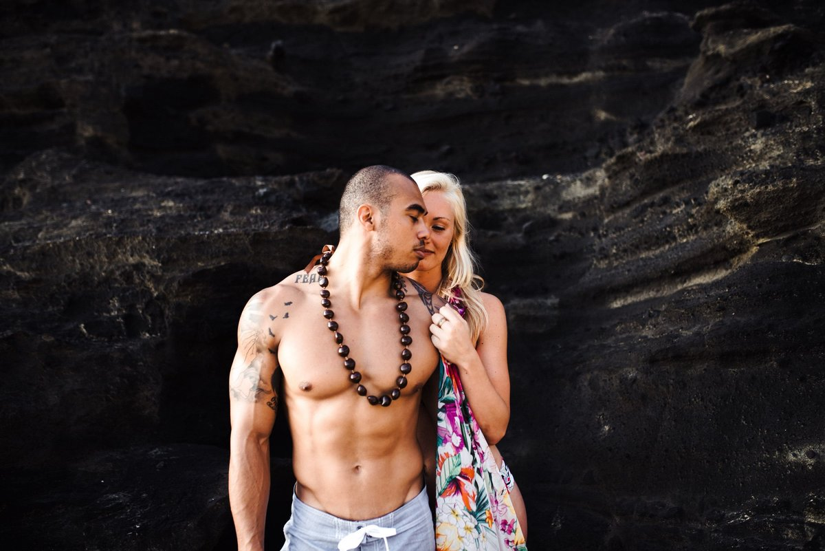 Eternity Beach Honolulu Hawaii Destination Engagement Session - 61