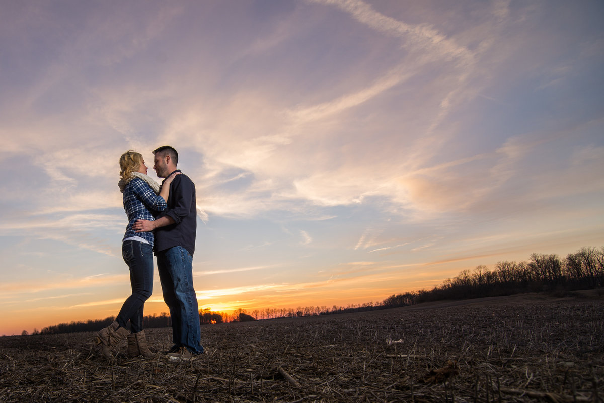 Night shot during Indianapolis engagement session