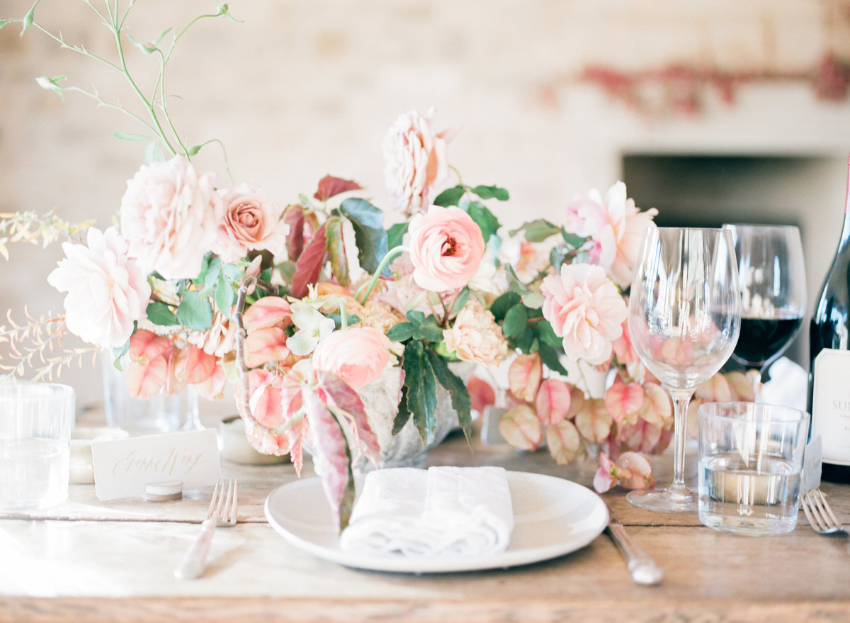 Blush Pink Rustic Floral Decor
