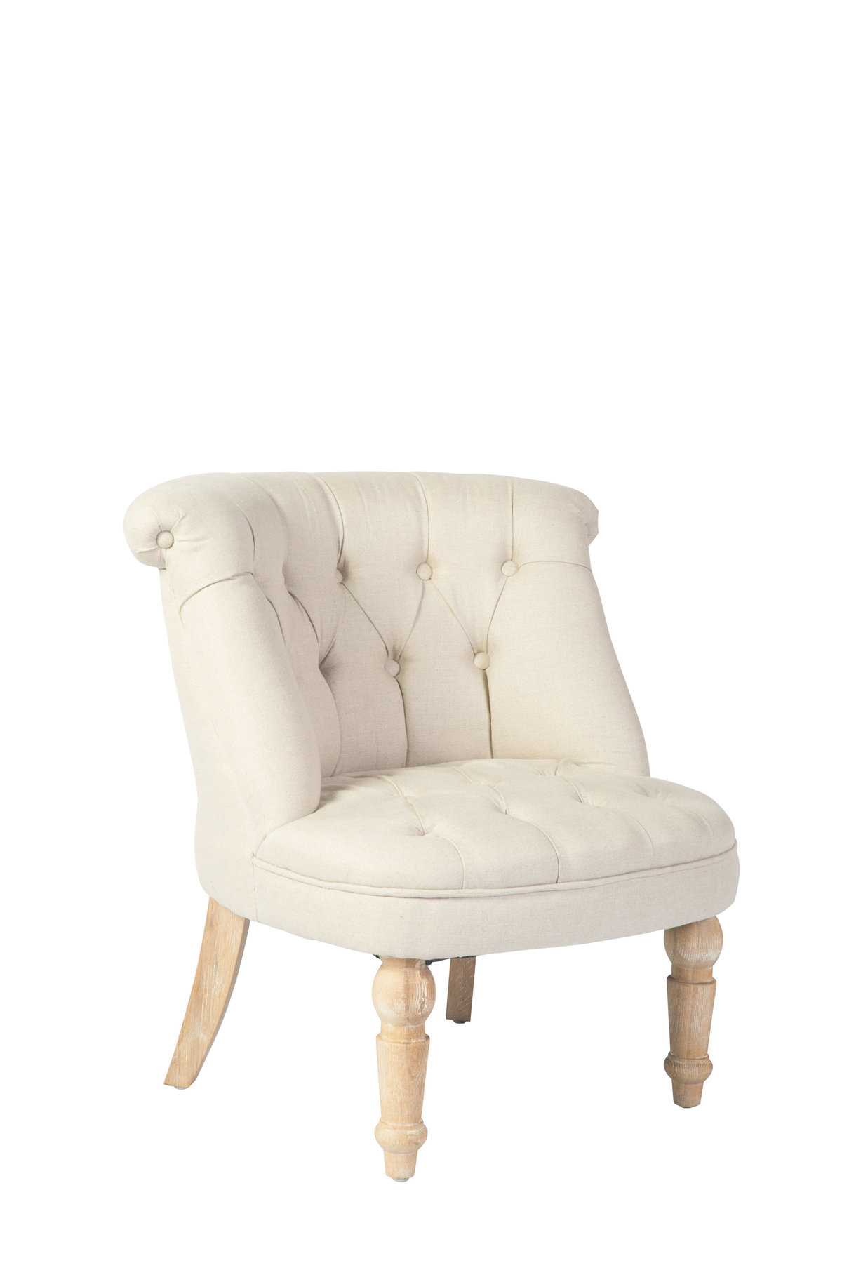 Siena Natural Linen Club Chair