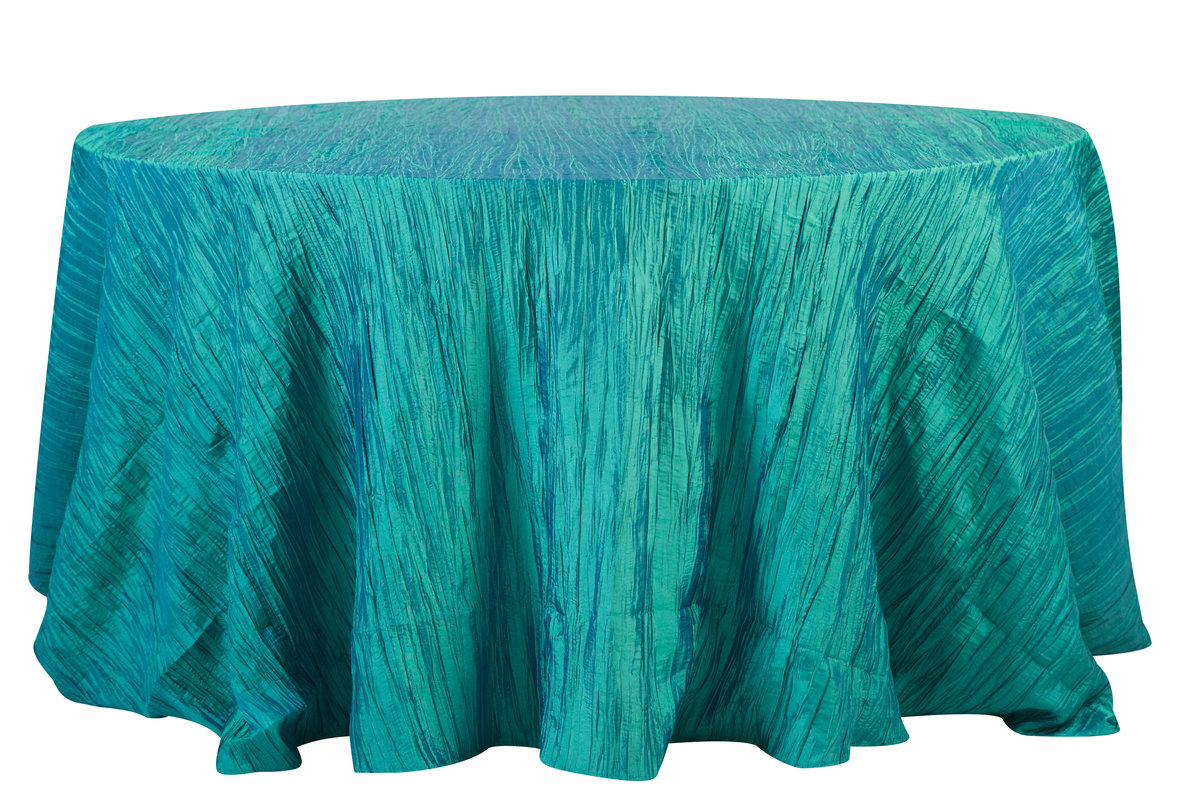 132'' Rd Light Teal Crinkle Taffeta