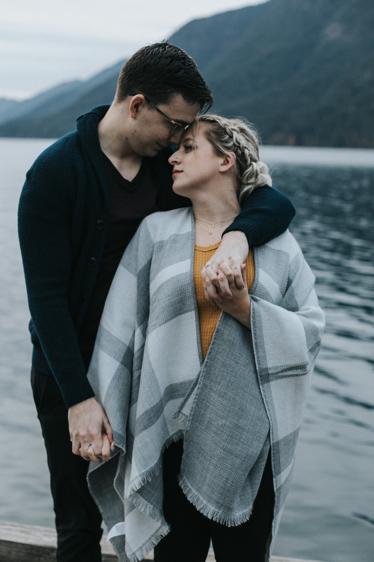 lakecrescent - olympic national park - marymere falls - elopement - engagement session-99