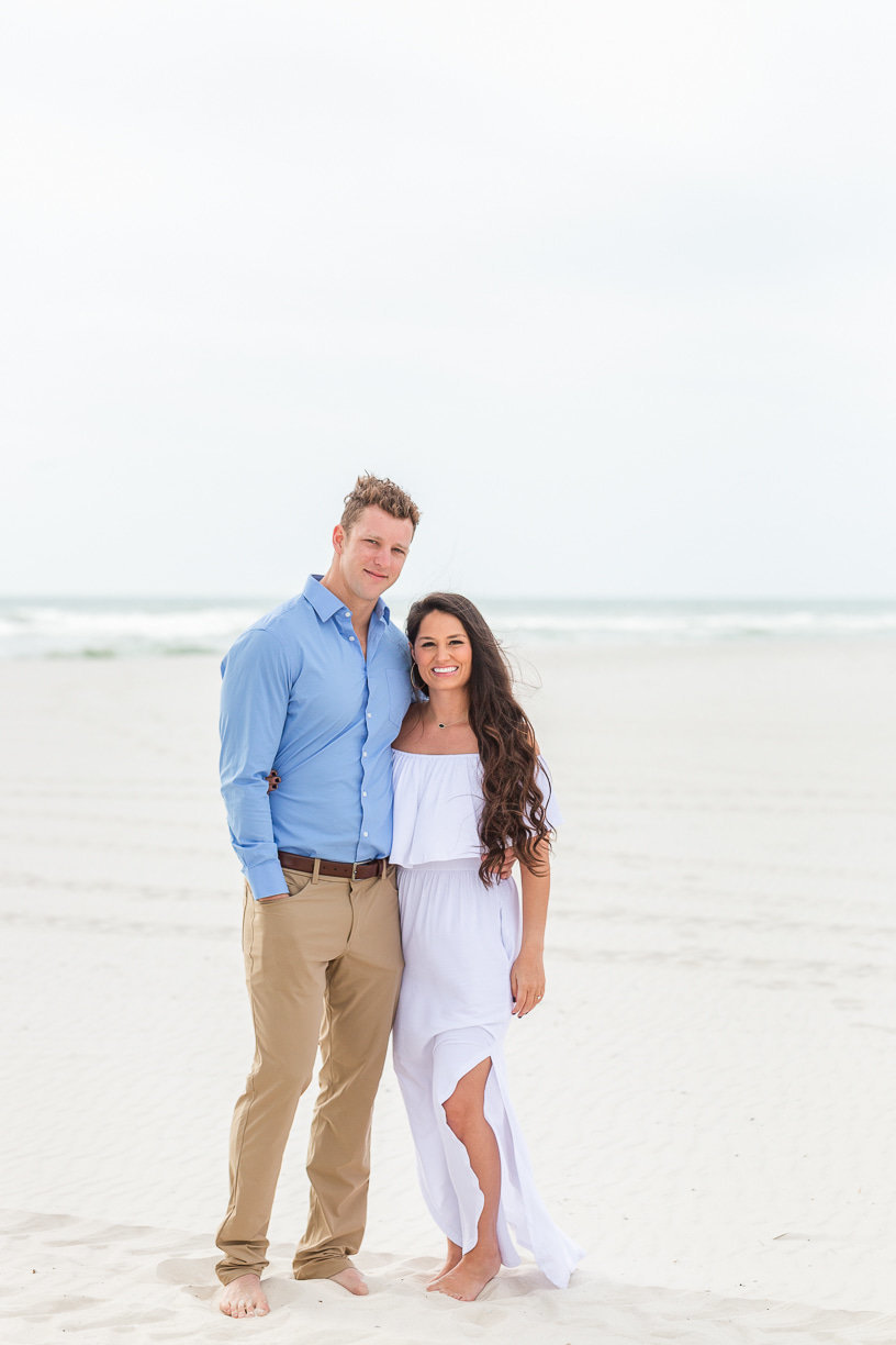 engagement portraits  on Alabama beaches by Toni Goodie Photography