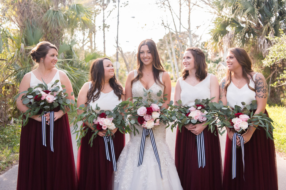 out door bridesmaids portrait
