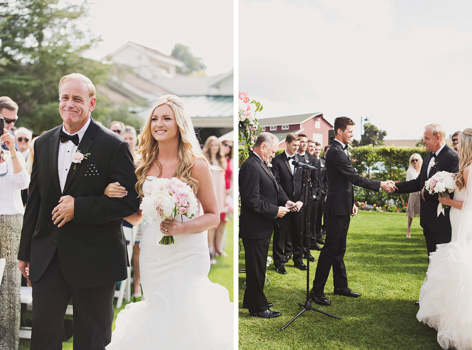 Wedding Ceremony at Strawberry Farms Golf Course in Orange County