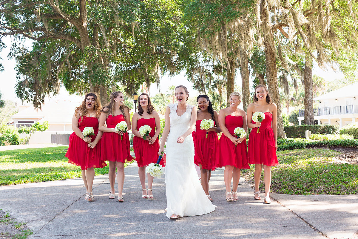Alfred angelo bride and brides maids