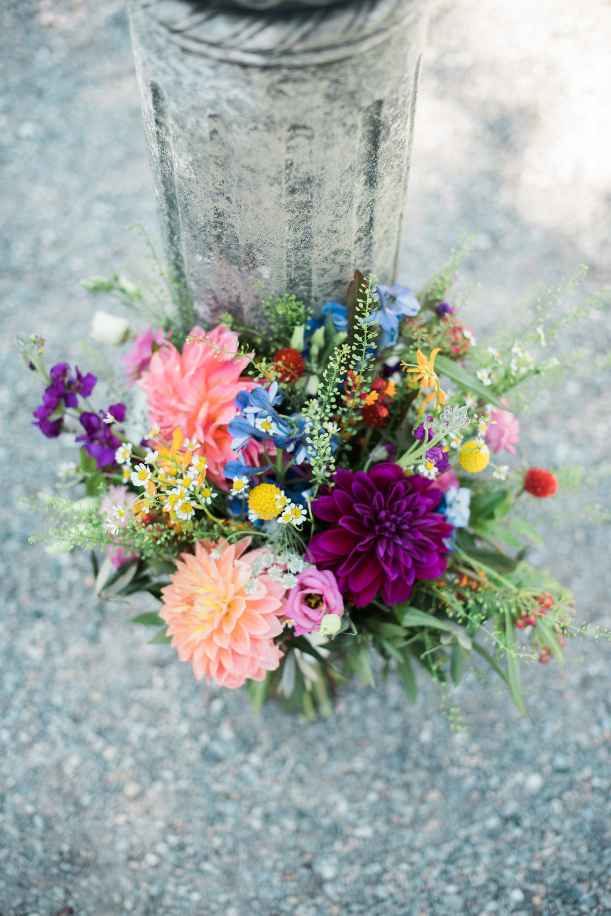 colorful fall wedding bouquet, dahlia wedding bouquet
