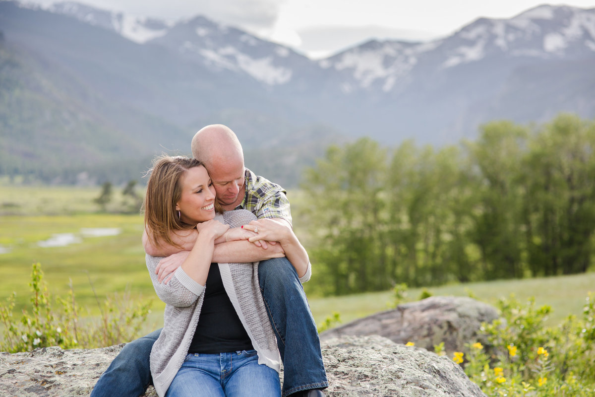 RMNP engagement photography session