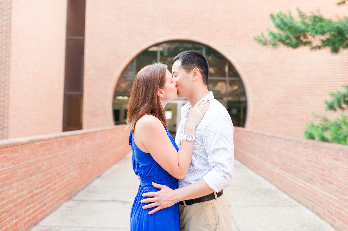 Ashton Kelley Photography captures a beautiful engaged couple at University of Maryland