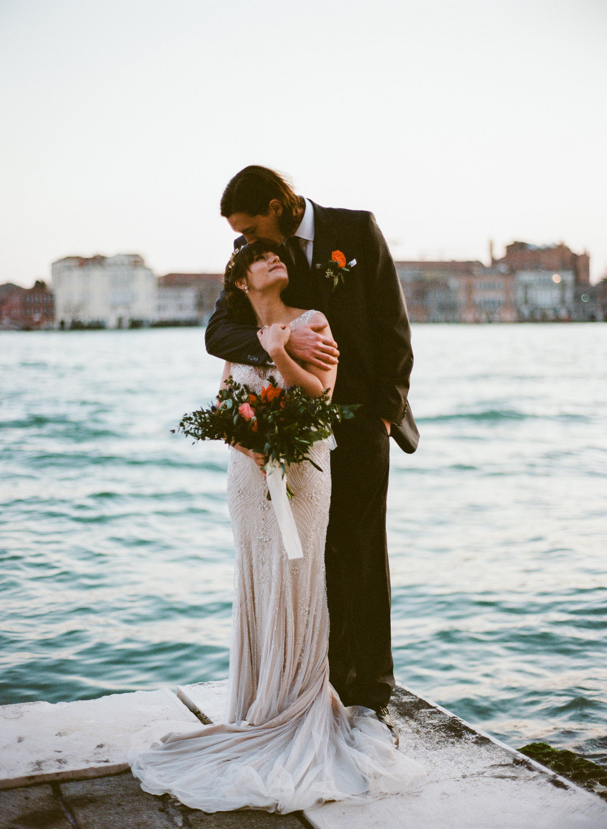 venice italy destination wedding elopement sunset over the grand canal photographer